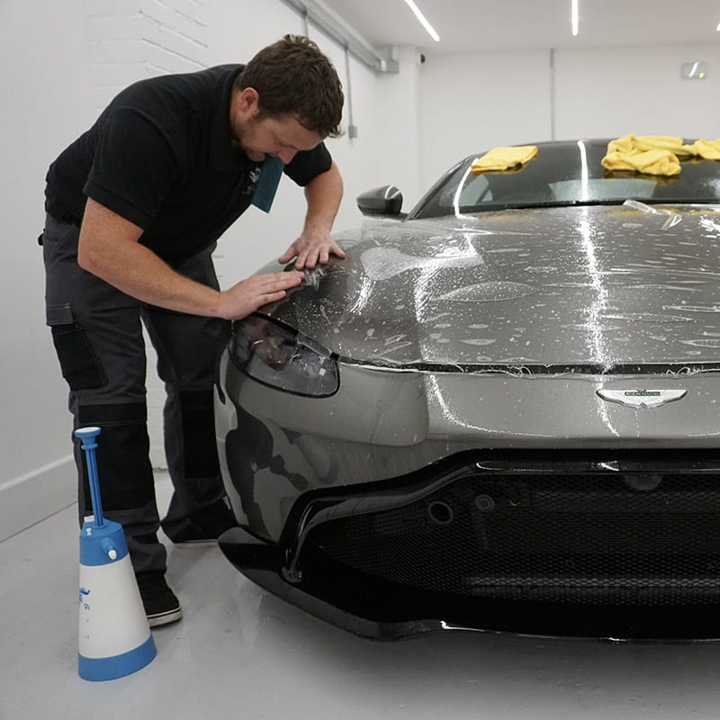 Applying Paint Protection Film PPF Essex